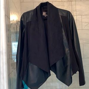 Kut from the Kloth black vegan suede jacket